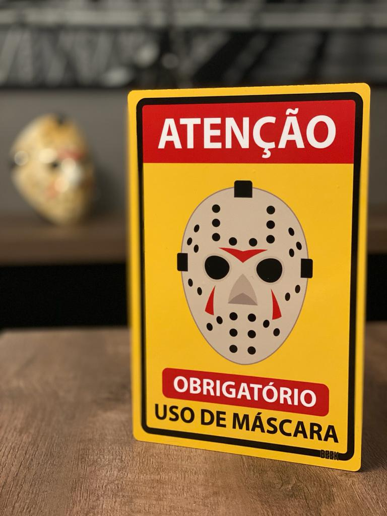 Placa Decorativa Use Máscara: Jason Voorhees