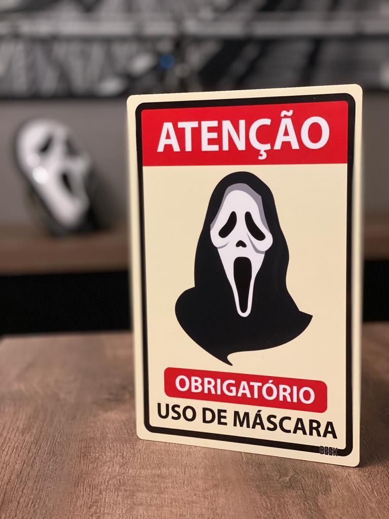 Placa Decorativa Use Máscara: Pânico (Todo Mundo em Pânico)