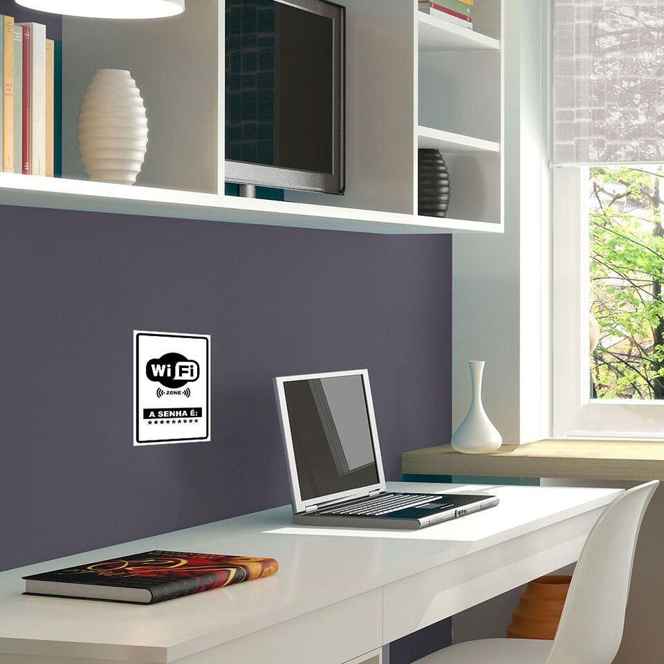 Placa Decorativa Vertical Senha Wi-Fi