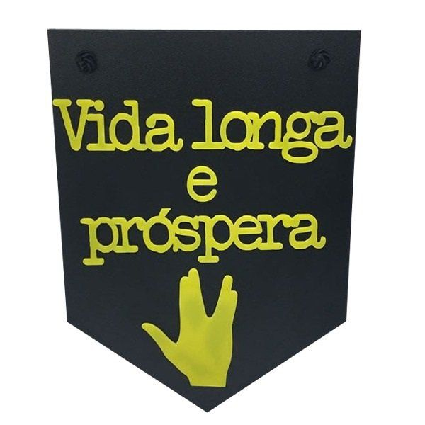 Placa Decorativa Vida Longa e Próspera - Star Trek