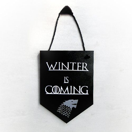 Placa Decorativa Winter Is Coming: Game of Thrones
