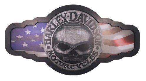Placa Luminária Harley Davidson (Caveira)