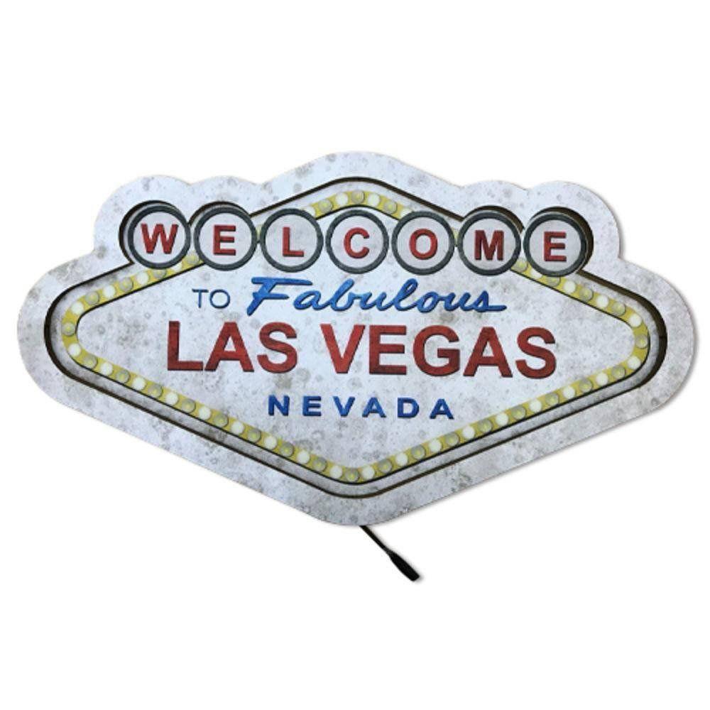 Placa Luminária Las Vegas