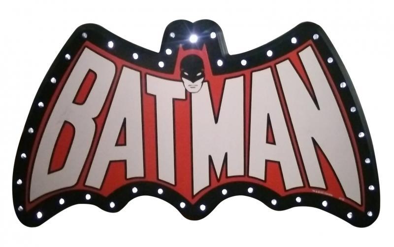 Placa Plástica LED Batman: DC Comics - Metropole