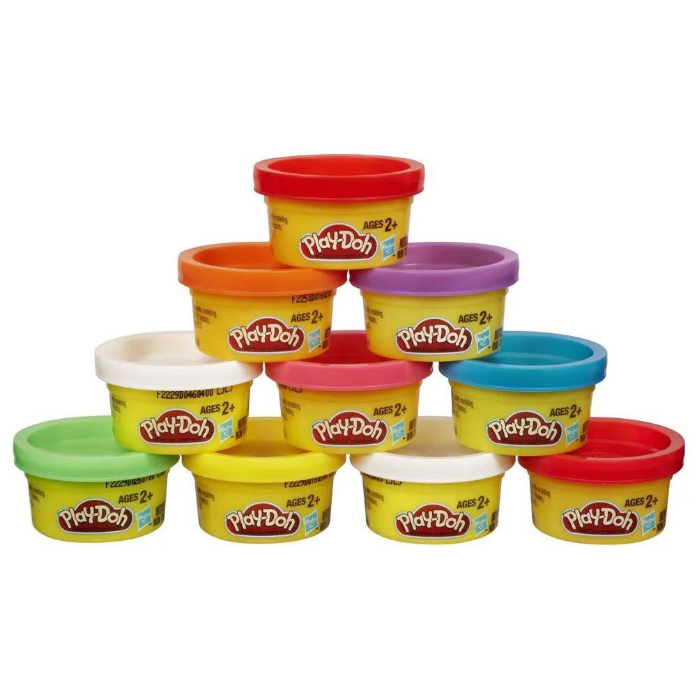Play-Doh: 10 Potes de Massinha de Cores Sortidas (Massa de Modelar) - Hasbro