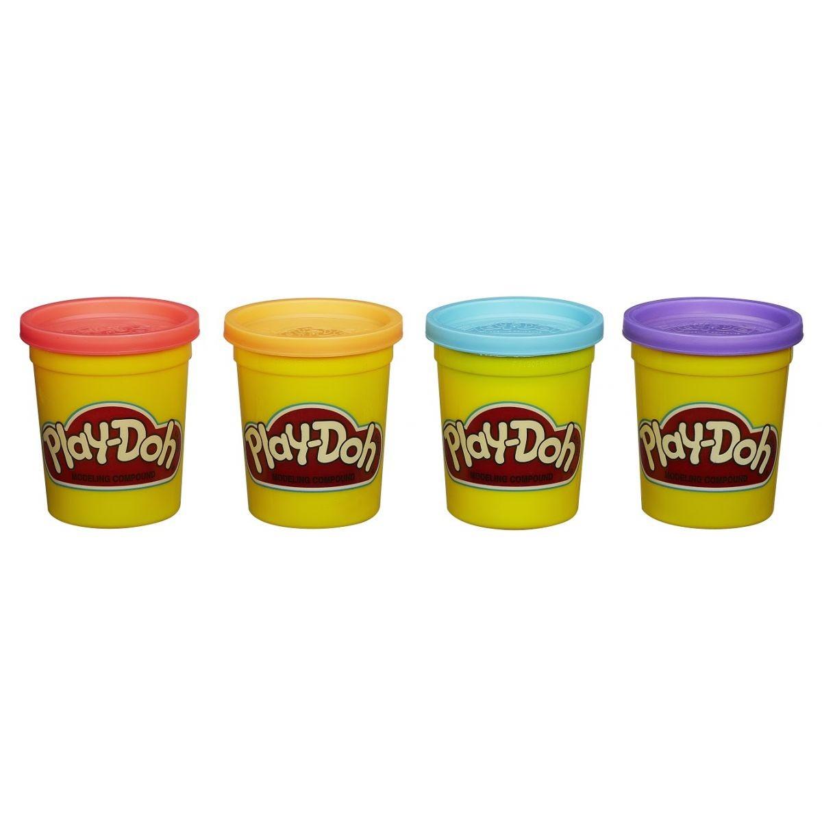 Play-Doh: 4 Potes de Massinha de Cores Sortidas (Massinha de Modelar)