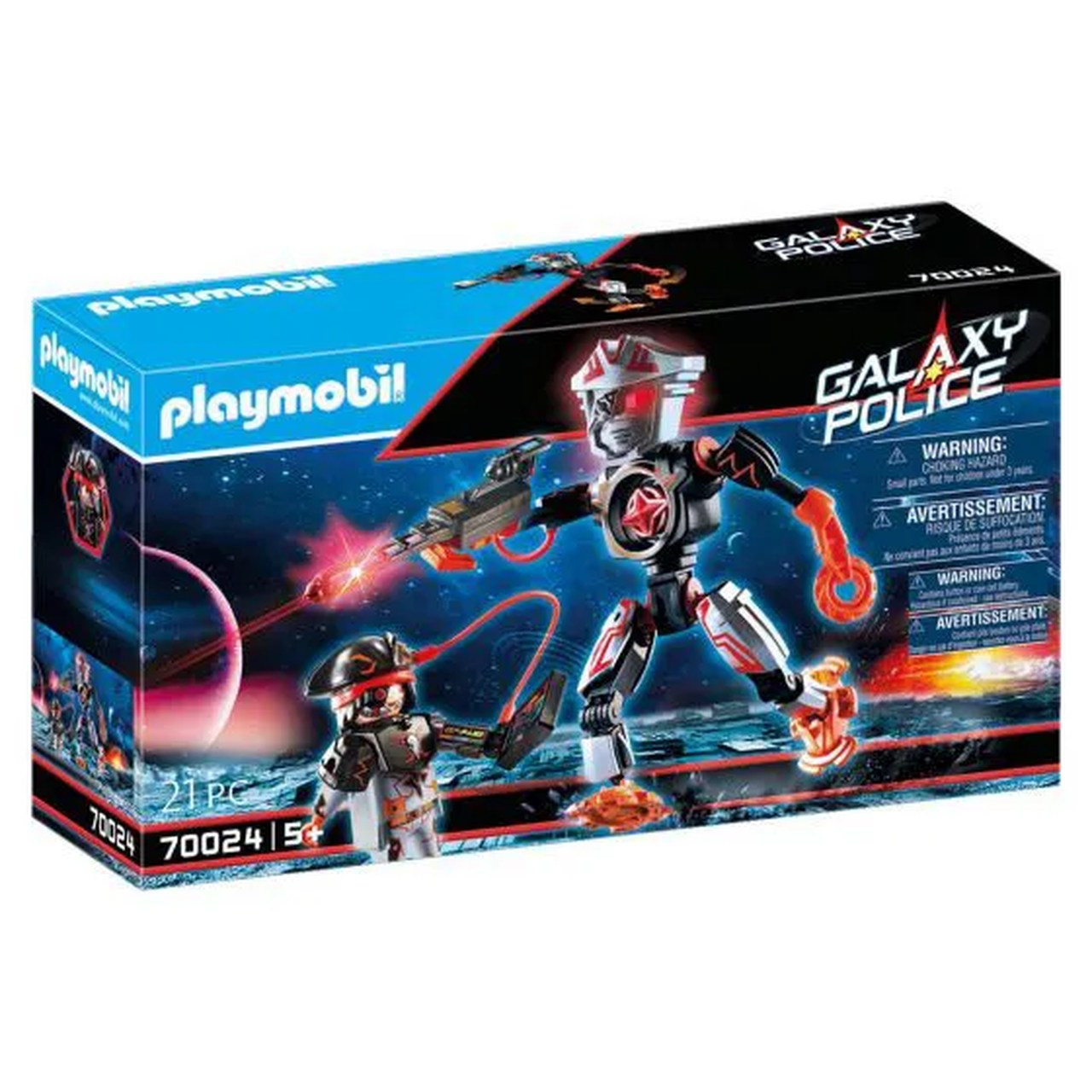 Playmobil Pirata Galáctica (21 Peças): Playmobil Galaxy Police (70024) - Sunny