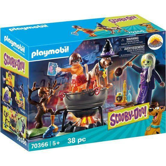 Playmobil Scooby-Doo! Aventuras No Caldeirão Da Bruxa 38 Peças - Sunny