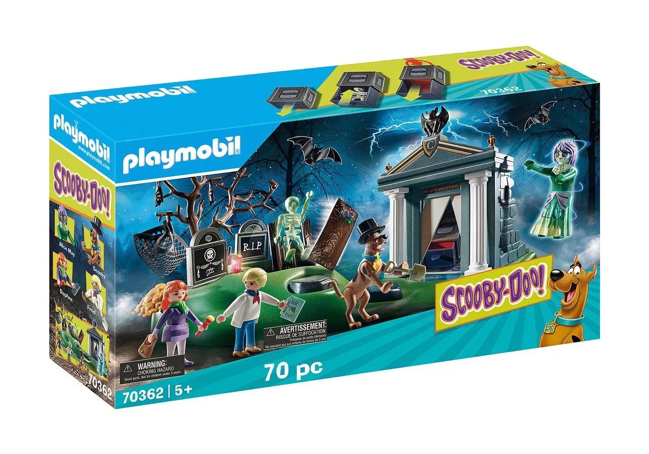 Playmobil Scooby-Doo! Aventuras No Cemitério 70 Peças - Sunny