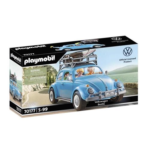 Playmobil Volkswagen Beetle Fusca Azul 52 Peças - Sunny