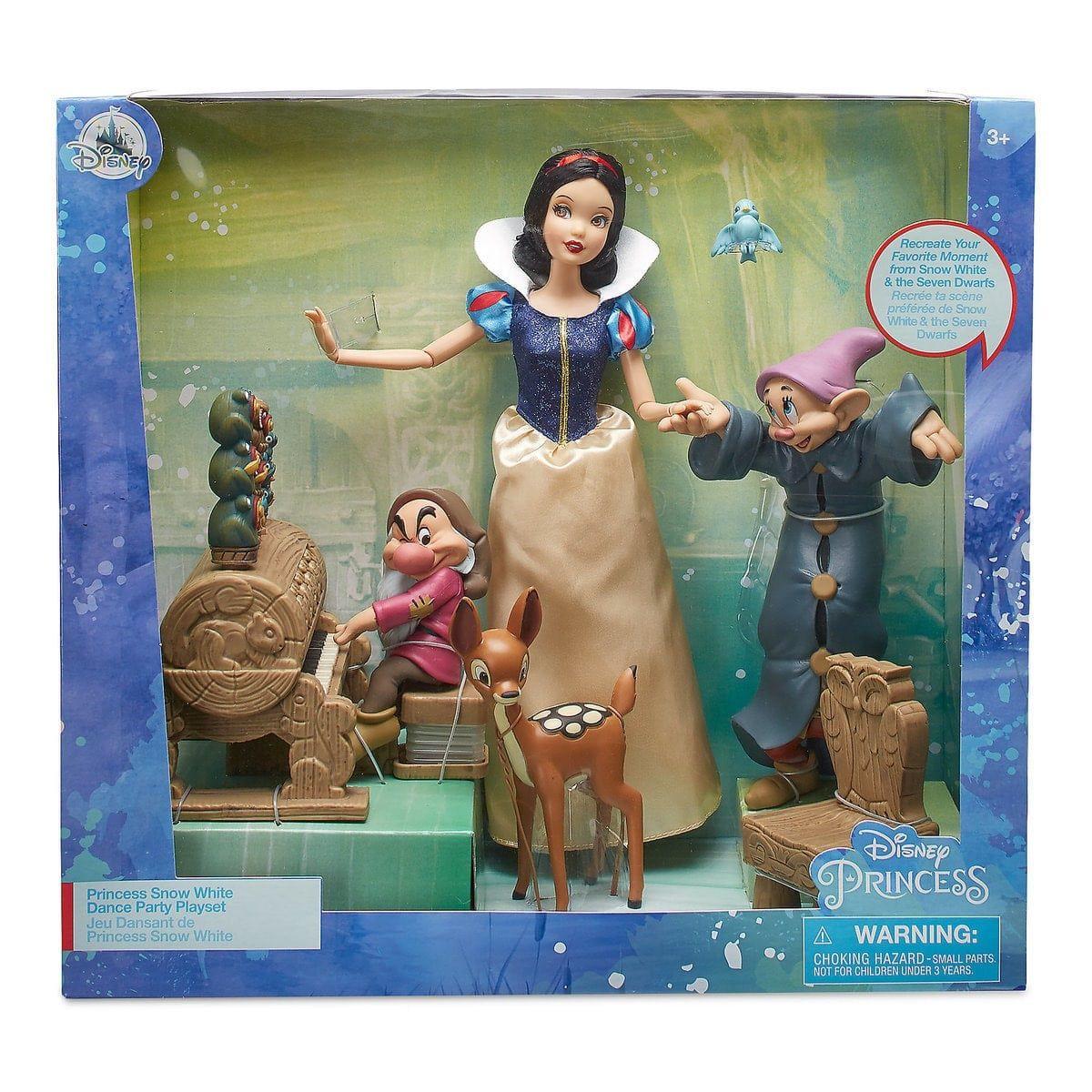 Playset Boneca Branca de Neve: Branca de Neve e os Sete Anões (Dance Party) - Disney