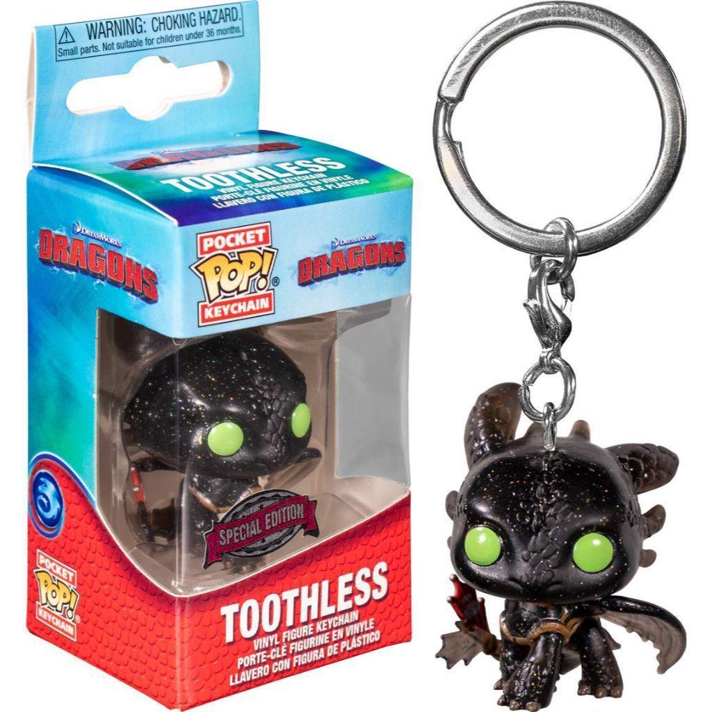Pocket Funko Pop! Keychains Chaveiro Banguela Toothless: Como Treinar Seu Dragão How Train Your Dragon Edição Especial Special Edition - Funko