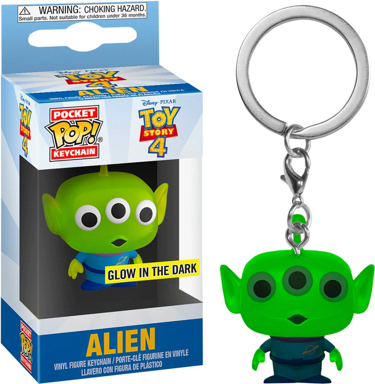 Pocket Pop Keychains (Chaveiro) Alien brilha no escuro (Alien Glow in the dark): Toy Story 4 - Funko