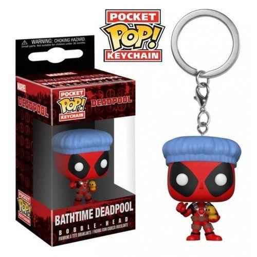 Funko Pocket Pop Keychains (Chaveiro) Bathtime Deadpool: Deadpool (Marvel) - Funko