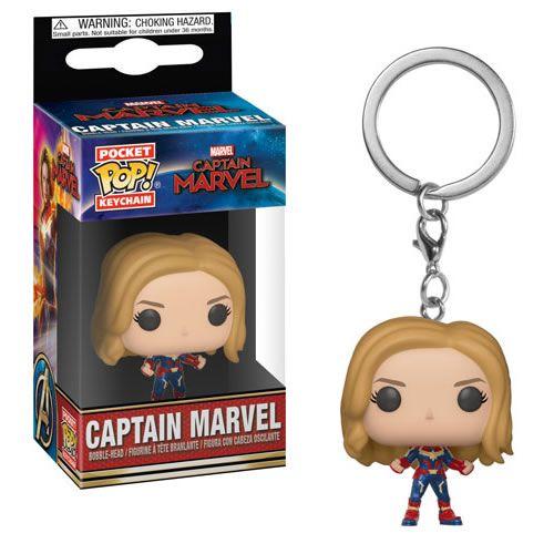 Pocket Pop Keychains (Chaveiro) Capitã Marvel (Captain Marvel) Unmasked - Funko