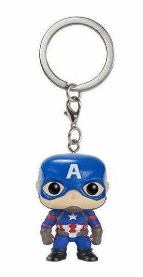 Pocket Pop Keychains (Chaveiro) Capitão América: Capitão América: Guerra Civil (Captain America: Civil War) - Funko