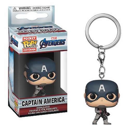 Pocket Pop Keychains (Chaveiro) Capitão América (Captain America): Vingadores Ultimato (Avengers Endgame) - Funko