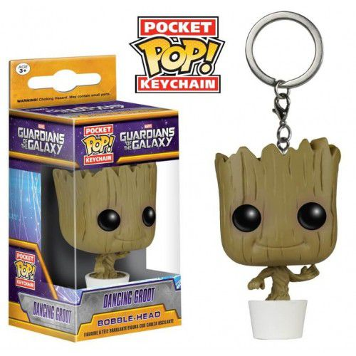 Pocket Pop Keychains (Chaveiro) Dancing Groot: Guardiões da Galáxia - Funko