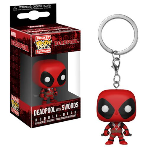 Pocket Pop Keychains (Chaveiro) Deadpool (With Swords): Marvel - Funko