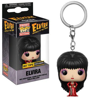 Pocket Pop Keychains (Chaveiro) Elvira (Exclusivo) - Funko