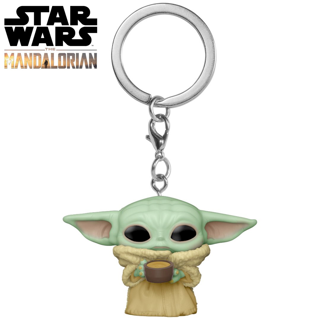 Pocket Pop Keychains (Chaveiro) Grogu (Baby Yoda) The Child: O Mandaloriano (The Mandalorian) - Funko