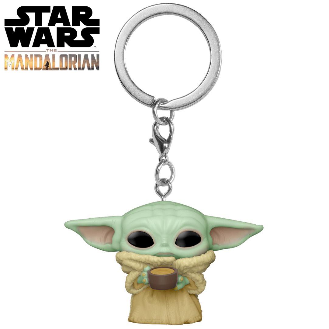 Pocket Pop Keychains (Chaveiro) Grogu (Baby Yoda) The Child: O Mandaloriano (The Mandalorian) - Funko