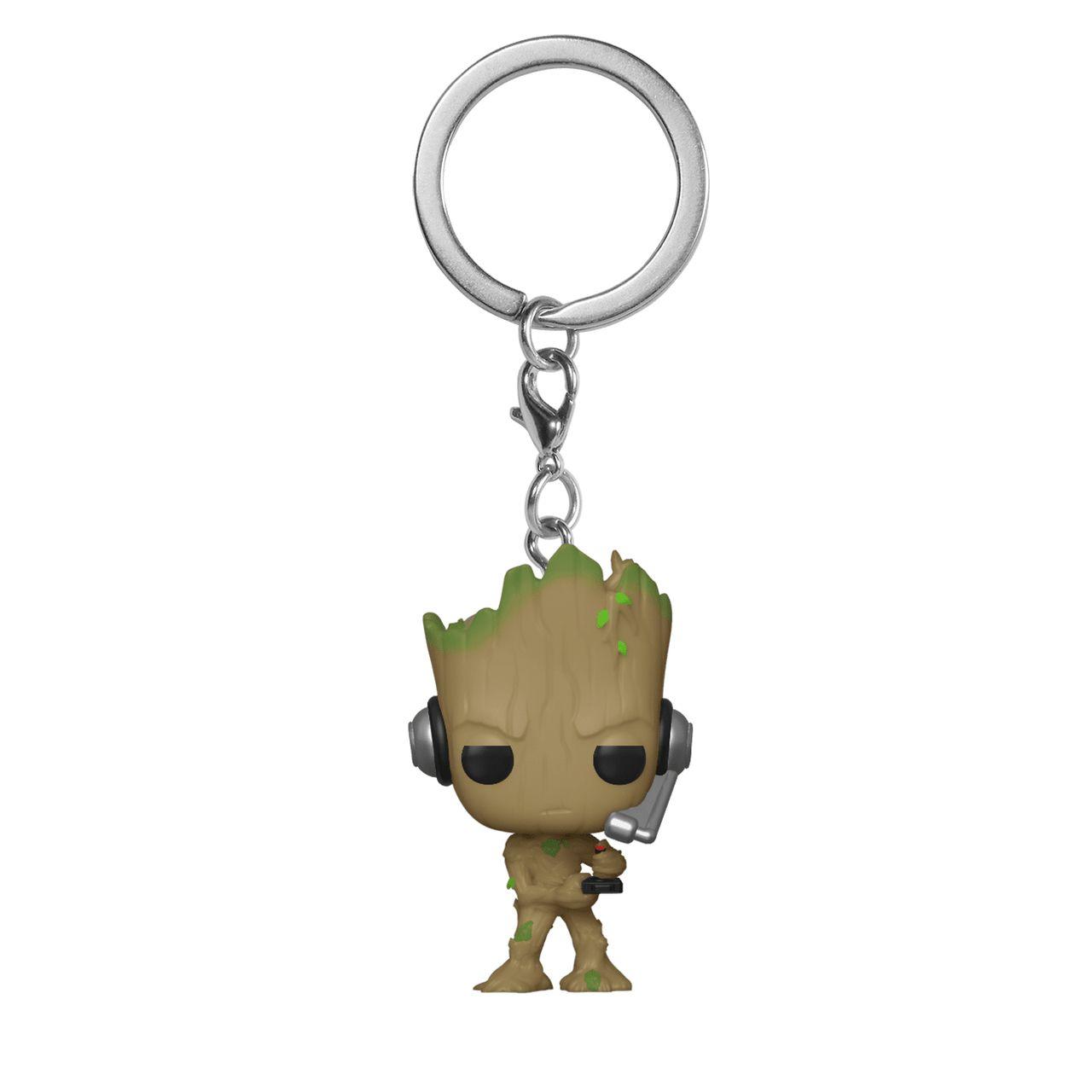 Funko Pocket Pop Keychains (Chaveiro) Groot (Gamer): Marvel Comics - Funko
