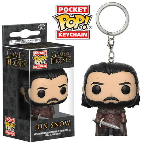 Pocket Pop Keychains (Chaveiro) Jon Snow: Game of Thrones - Funko (Apenas Venda Online)