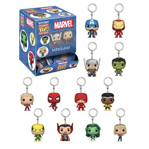 Pocket Pop Keychains (Chaveiro) Marvel: Blindbag Display SORTIDO - Funko