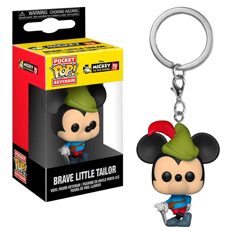 Funko Pocket Pop Keychains (Chaveiro) Mickey (Brave Little Tailor): Mickey The True Original 90 Years - Funko