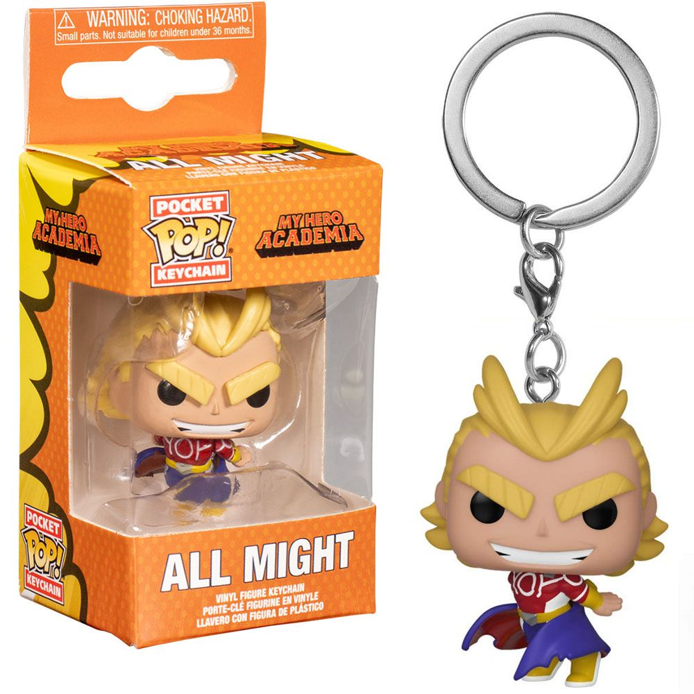 Pocket Pop Keychains (Chaveiro) All Might (Silver Age): Boku no Hero Academia (My Hero Academia) - Funko