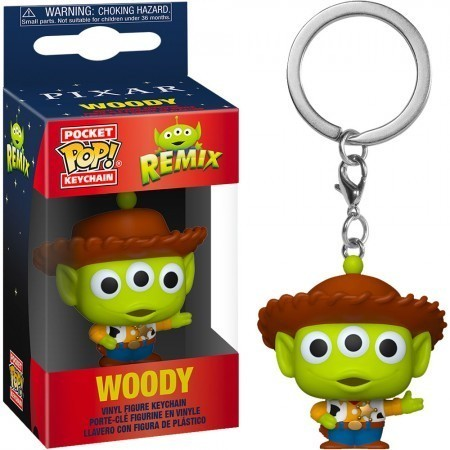 Funko Pocket Pop Keychains (Chaveiro) Remix Woody: Aliens Toy Story - Funko