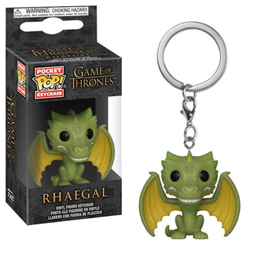 Pocket Pop Keychains (Chaveiro) Rhaegal: Game of Thrones - Funko (Apenas Venda Online)