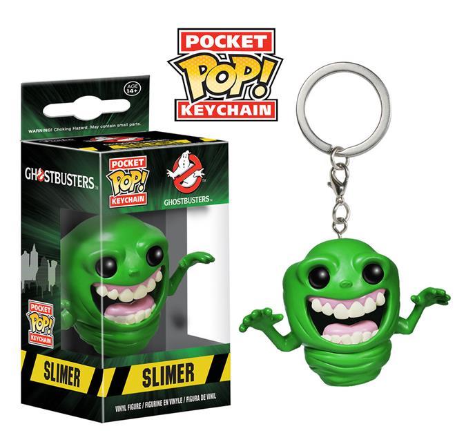 Pocket Pop Keychains (Chaveiro) Slimer (Geleia): Ghostbusters - Funko