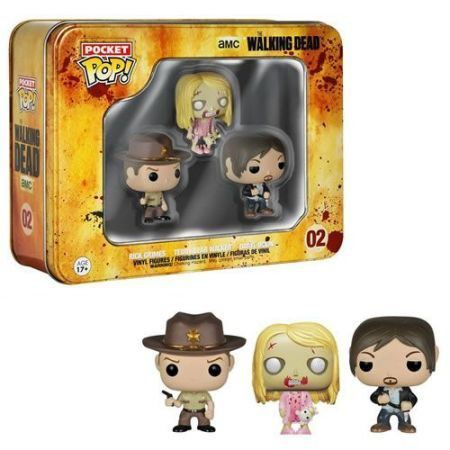 Funko Pocket Pop Teddy Bear Girl, Rick Grimes, Daryl: The Walking Dead #02 - Funko