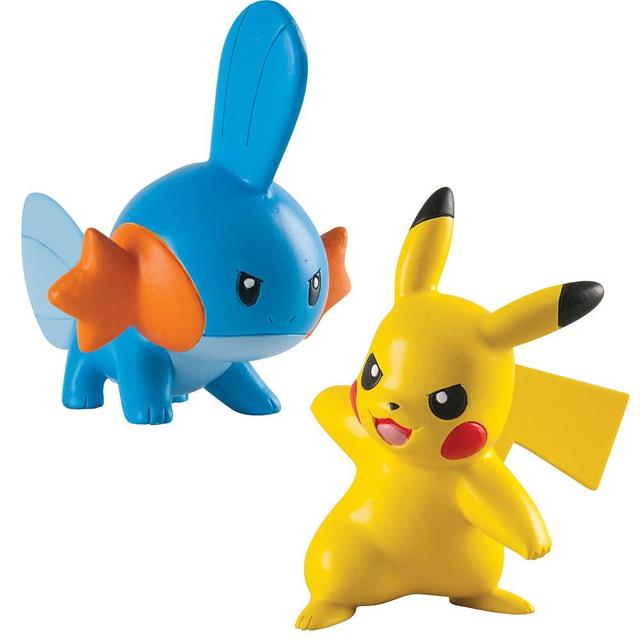 Pokemon Mini Figura Mudkip Vs Pikachu - Tomy