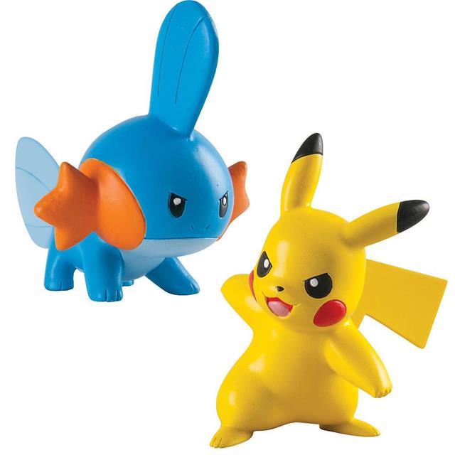 Pokemon Mini Figura Mudkip Vs Pikachu - Tomy