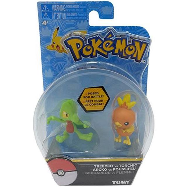 Pokemon Mini Figura Treecko Vs Torchic - Tomy