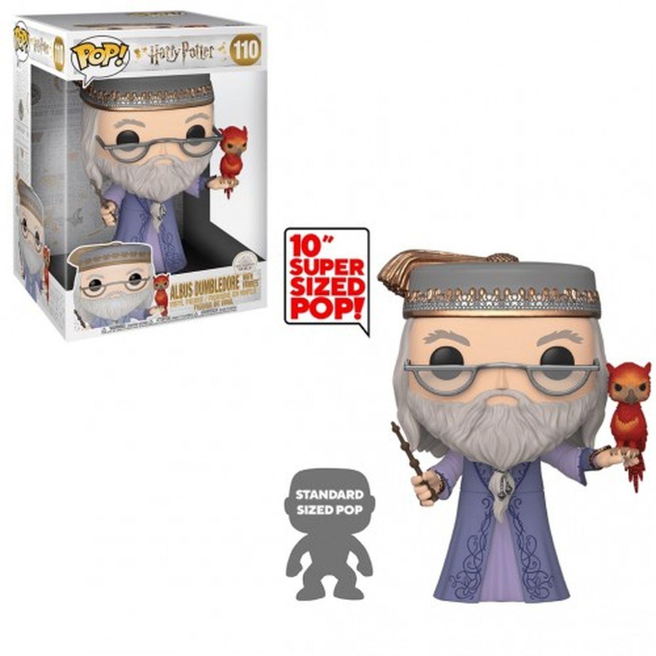 Funko Pop! Albus Dumbledore e Fawkes (Super Sized 10