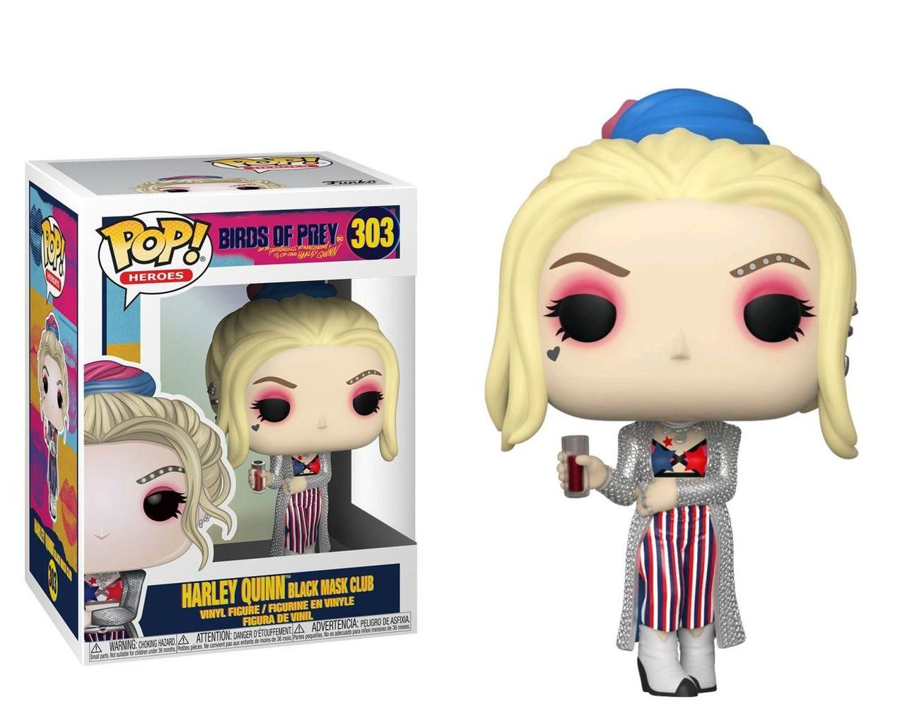 Funko Pop! Alerquina (Harley Quinn Black Mask Club): Aves de Rapina (Birds Of Prey) #303 - Funko