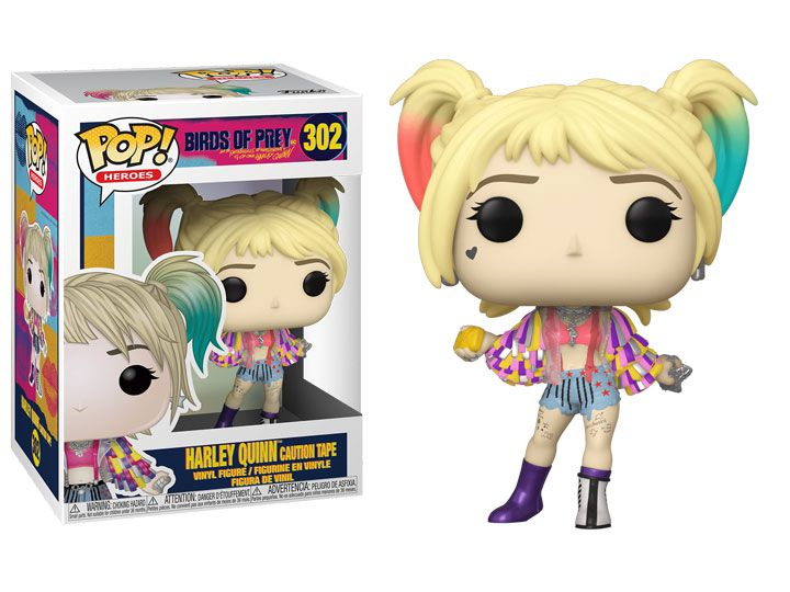Funko Pop! Alerquina (Harley Quinn Caution Tape): Aves de Rapina (Birds Of Prey) #302 - Funko