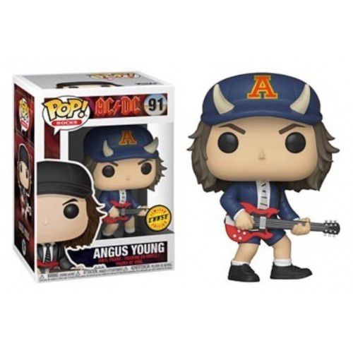 Pop! Angus Young (Chase): AC/DC (Exclusivo) #91 - Funko