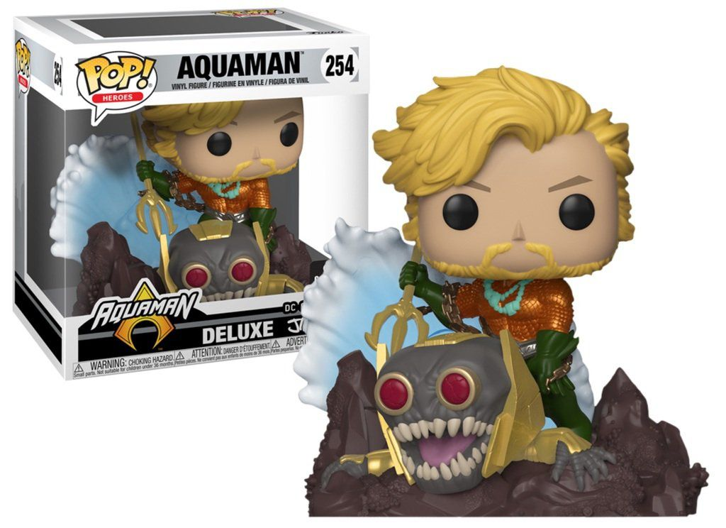 Pop! Aquaman (Deluxe): DC Collection Jim Lee (Exclusivo) #254 - Funko