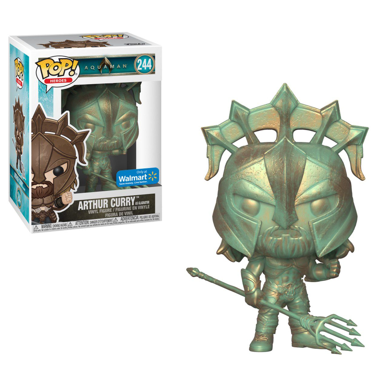 Funko Pop! Arthur Curry Gladiador (Gladiator) Patina: Aquaman (Exclusivo) #244 - Funko