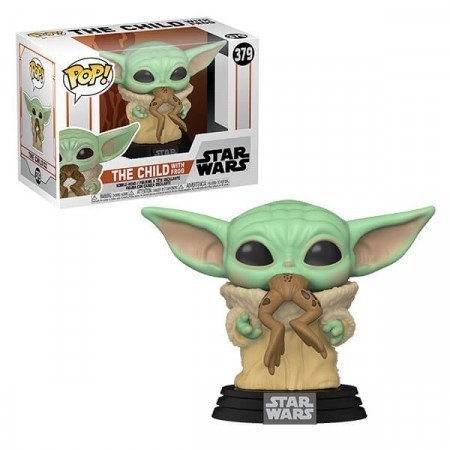 Funko Pop! Grogu ''Baby Yoda'' com Sapo: The Mandalorian (Star Wars) Disney #379 - Funko