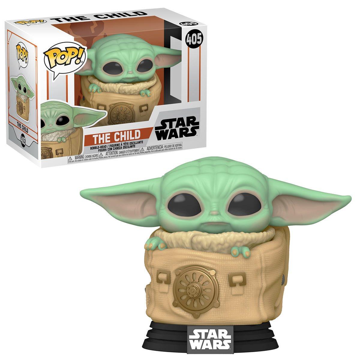 PRÉ VENDA: Funko Pop! Grogu ''Baby Yoda'' na Bolsa ( Child with Bag): The Mandalorian ( Star Wars )  #405 - Funko