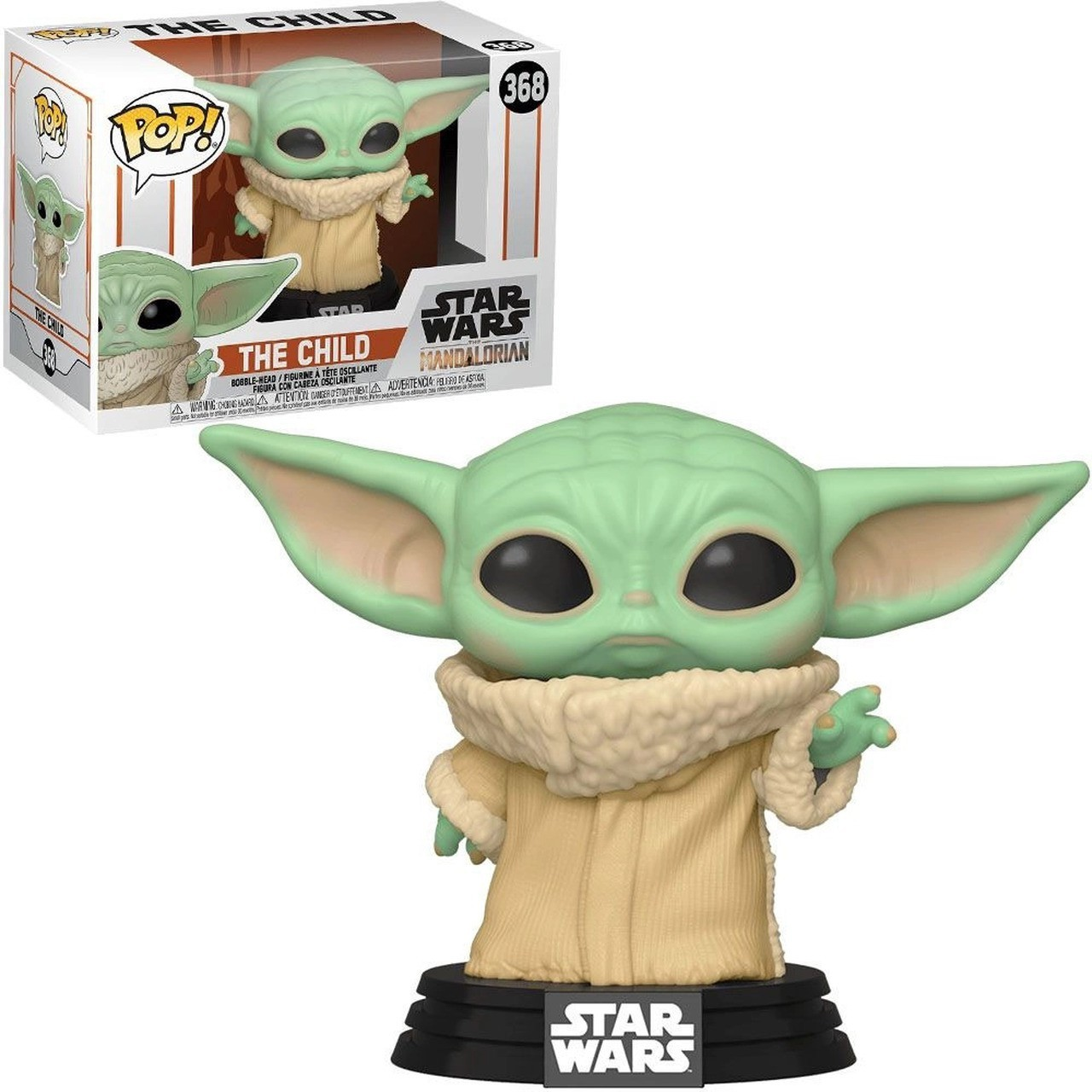 Funko Pop! Grogu ''Baby Yoda'' (The Child): The Mandalorian (Star Wars) Disney #368 - Funko