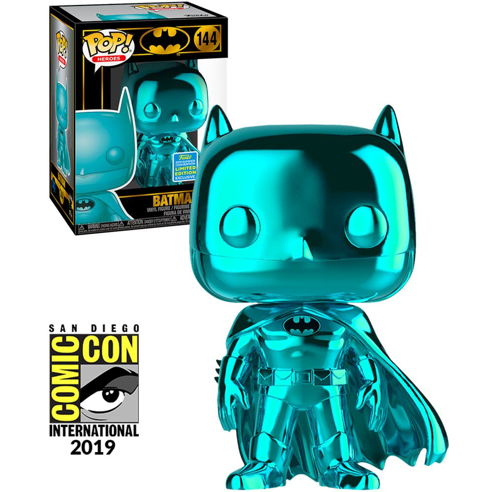 Pop! Batman (Chrome): Batman 80th Anniversary (Exclusivo SDCC) #144 - Funko
