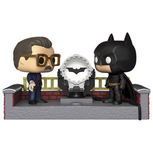 Funko Pop! Batman & Jim Gordon (Light-Up Bat-Signal): Batman 80th Anniversary (Movie Moments) #291 - Funko