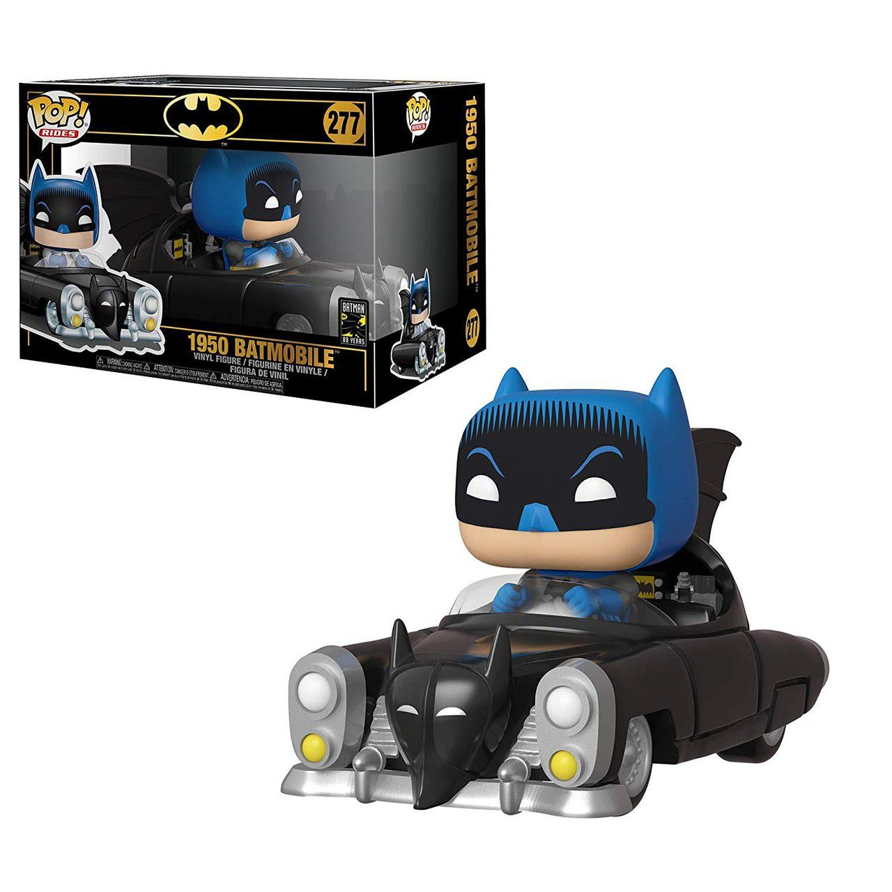 Funko Pop! Batmóvel (Batmobile) 1950 - 80th Anniversary #277 - Funko